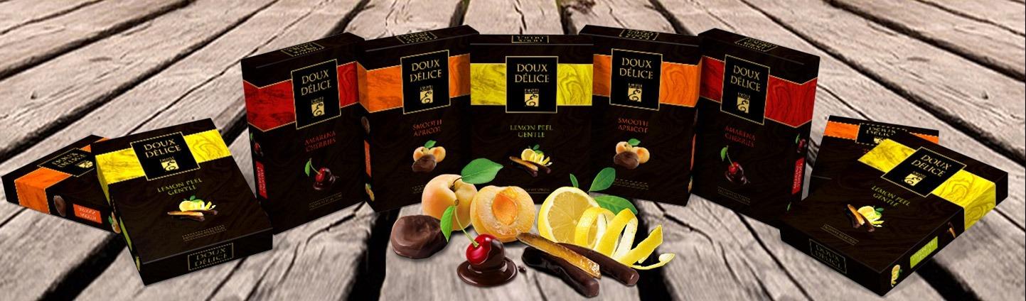 Belgian chocolates fruits