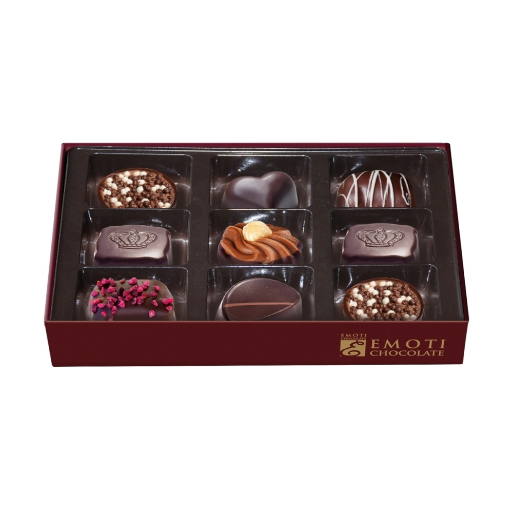 Belgian Chocolates EMOTI. Gift boxes and pralines.